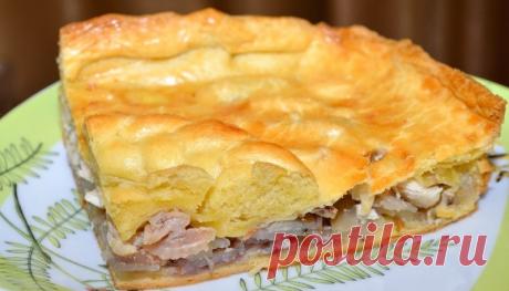 Рецепты с фото. Пирог с курицей и картофелем в мультиварке