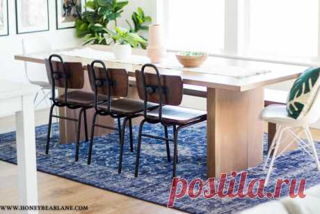 How to Build a West Elm Inspired Dining Table DIY | Hometalk