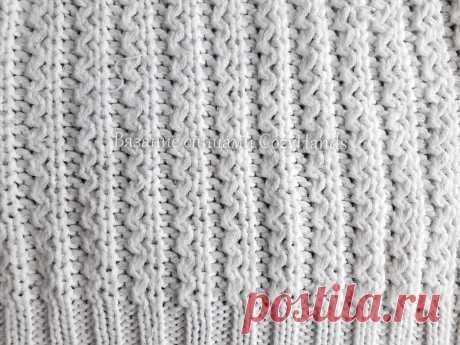 Красивейшая волнистая резинка спицами для вязания шапок, носков, джемперов | Вязание спицами CozyHands | Яндекс Дзен