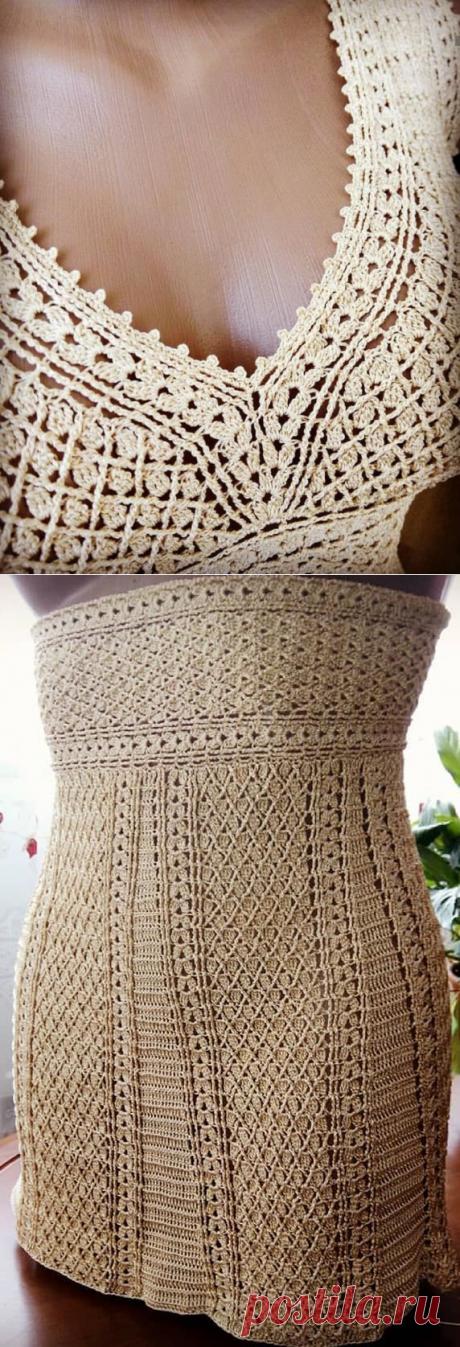 Узор для летнего сарафана от tiana_lace via (Вязание крючком) – Журнал Вдохновение Рукодельницы