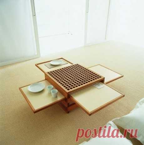 Столик, экономящий пространство