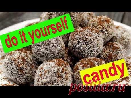 Do-it-yourself candy,  Вкусные фитнес  конфеты из натуральных продуктов. - YouTube
