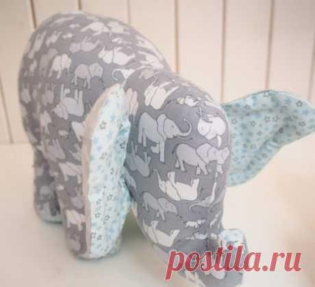 Проект мягкой игрушки слоника - Каталог шитья