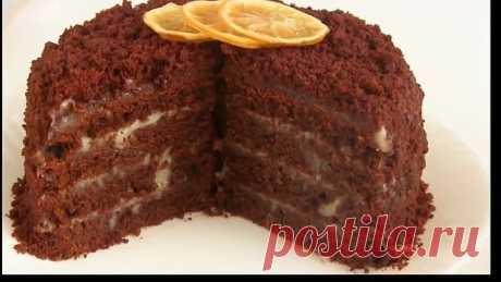 Торт-Супер-шoколадный-с лимонным курдом!