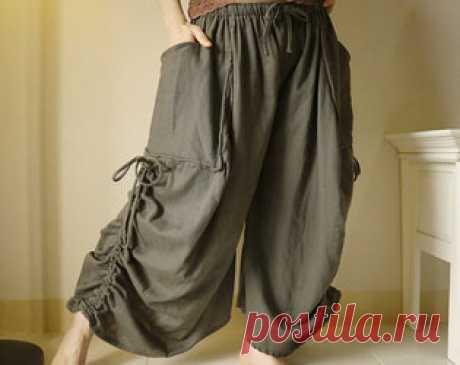 ТОП-10 модных льняных брюк, которые можно сшить самостоятельно