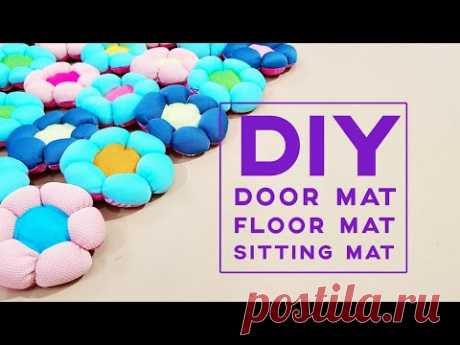 Basic Sewing Ideas | Upcycle Old Clothes Into Puff Flower Mat Design | Mother's day gift ideas❤❤母亲节礼