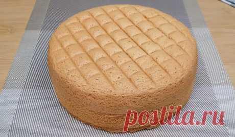Бисквит Кастелла, который не опадает даже после холодильника