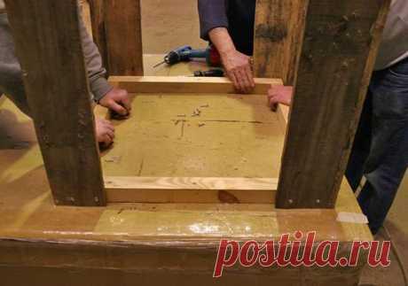 Умывальник из поддонов. Мебель из паллет своими руками: пошаговые инструкции изготовления мебели из поддонов с фото