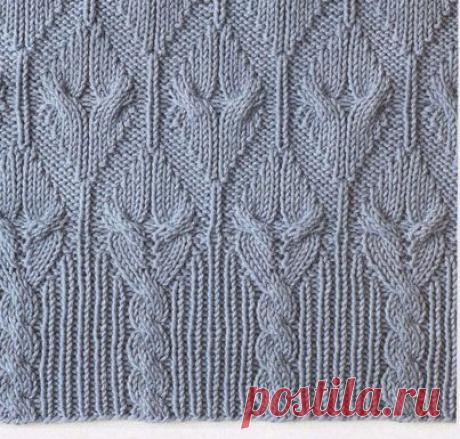 10 узоров спицами со схемами | Модное вязание | Яндекс Дзен