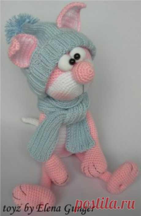 МК Розовый кот Сейчас многие увлеклись вязанием игрушек, но не все хотят делится МК)). А здесь такой понятный, бесплатный МК милого розового кота. Делюсь с Вами. Большое спасибо автору Elena Gunder