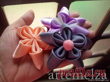 Изготовления цветка из атласных лент: мастер-класс — Сделай сам, идеи для творчества - DIY Ideas
