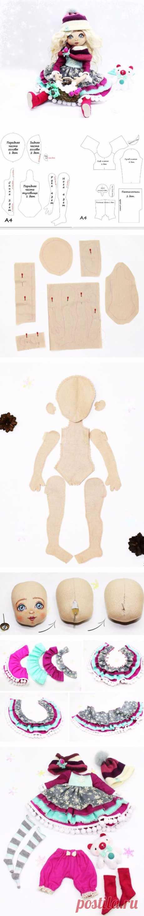 Как сшить текстильную куклу из ткани 5 шаблонов с выкройками. Куклы своими руками пошаговые мастер классы, лучшие идеи.