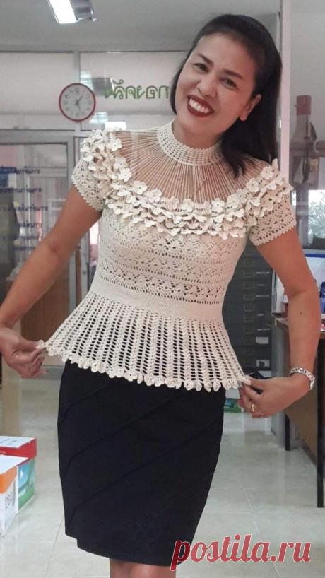 Романтические блузы крючком, или что нам предлагает индустрия вязаной моды 2020г. | pro100stil | Яндекс Дзен