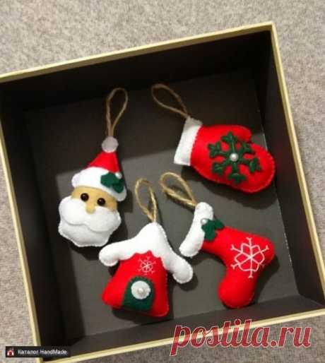 Новогодние игрушки на ёлку ручной работы купить в Минске и Беларуси, цены на HandMade