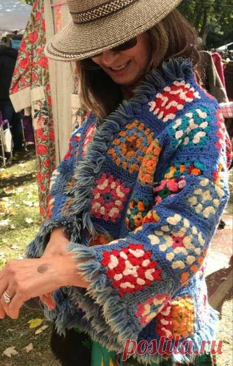 Вдохновляемся и вяжем: бабушкин квадрат (33 фото)   Anna Kuznetsova Knitting   Яндекс Дзен