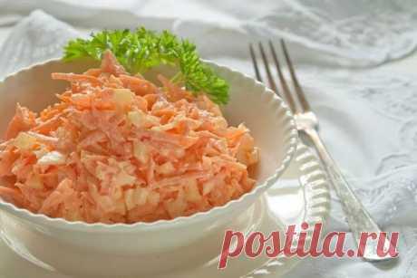 Простой салат из моркови с сыром — Sloosh – кулинарные рецепты