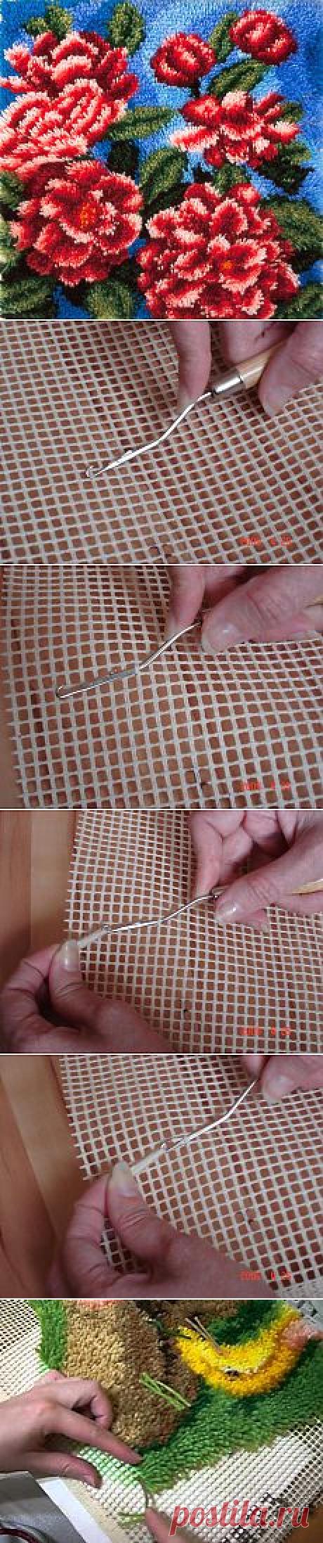 Ковровая техника крючком | Идеи и фотоинструкции бесплатно на Постиле
