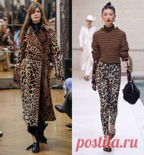 Леопардовый принт снова в моде