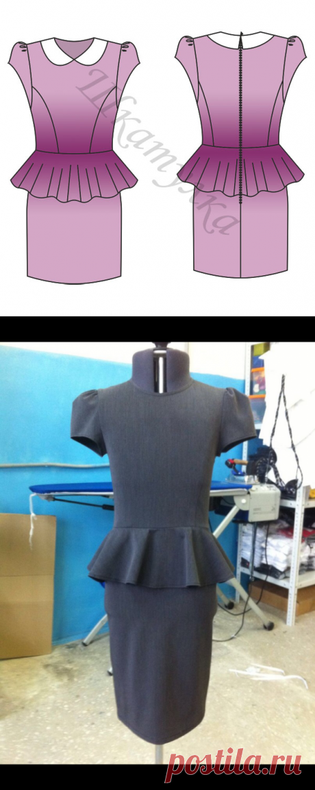 Выкройка платья с баской для девочки | Шкатулка