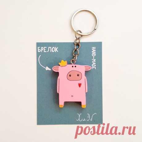 Брелок 'Хрюня' купить в интернет-магазине PichShop, цена в Москве