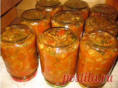 Чудесный рецепт салата из кабачков на зиму, придется по душе всем без исключения. Для приготовления понадобится:кабачки 2 кг (очищенные от семян и кожуры)помидоры- 1 кгболгарский перец-3-4 штчеснок - 2 головкиострый перец - 1 стручокрастительное масло - 1 стакансоль- 2-3 стол ложкисахарный песок - 1 стакануксус 9%- 100 млПомидоры вымыть, залить крутым кипятком, минут...