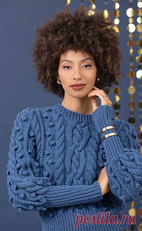 Из мериноса крутой пуловер получился.