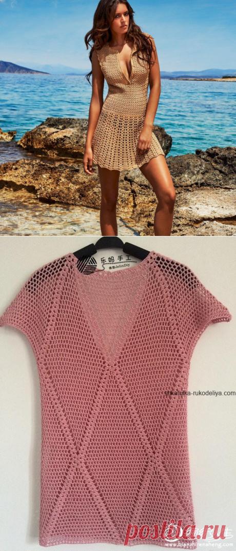Туники крючком. Готовим летние наряды | Модное вязание | Яндекс Дзен