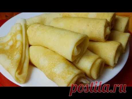Блины из риса без глютена, цыганка готовит. Рисовые блинчики с творогом и бананом.