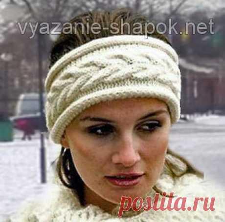 11 красивых повязок на голову спицами — идеальный вариант для весны и осени | Вязание Шапок - Модные и Новые Модели