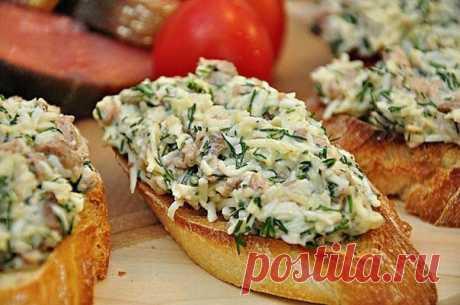 Украшение праздничного стола – Закусочные бутерброды с печенью трески