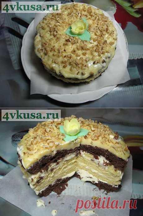 Торт Бисквитный и заварной крем за 20 минут в микроволновой печи. Фоторецепт. | 4vkusa.ru
