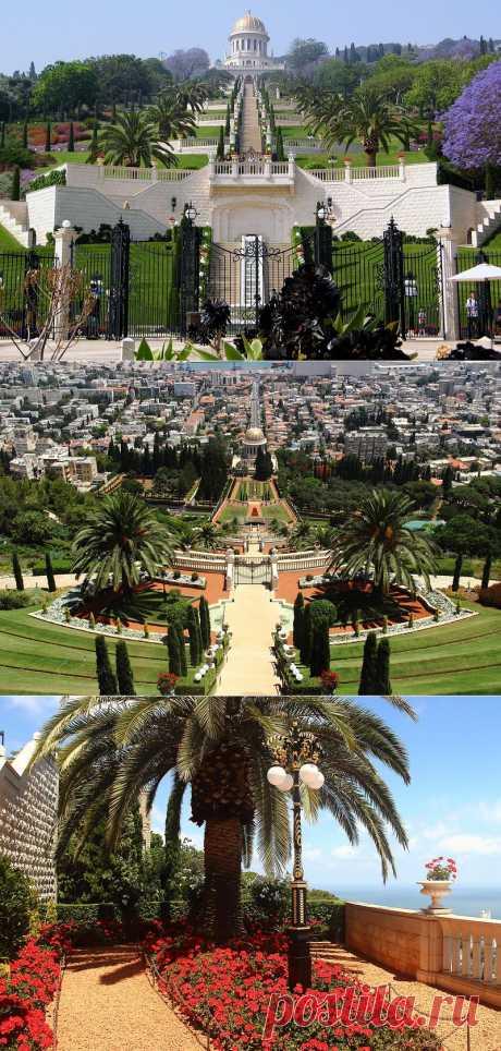 В поисках гармонии... Бахайские сады. Хайфа. Израиль..