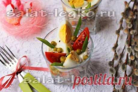 Салат «Пасхальный» с рыбой, рецепт с фото