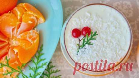 Новогодний Десерт «Мандарины Под Снегом»