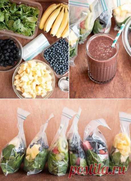 (1) Frozen Green Smoothie System | los Cocteles De frutas, Por la mañana y los Congeladores