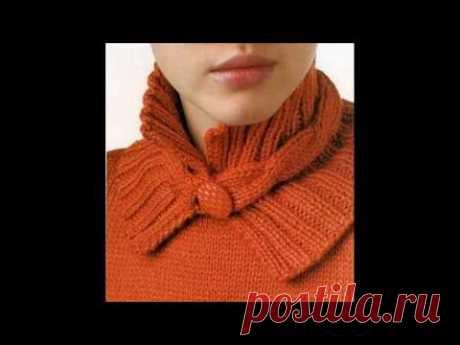 Много идей для оформления горловины вязаного изделия. Сделайте свое изделие неповторимым!