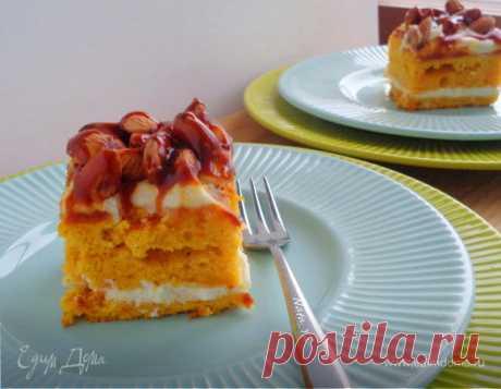 Тыквенные пирожные с миндалем и соленой карамелью   Официальный сайт кулинарных рецептов Юлии Высоцкой