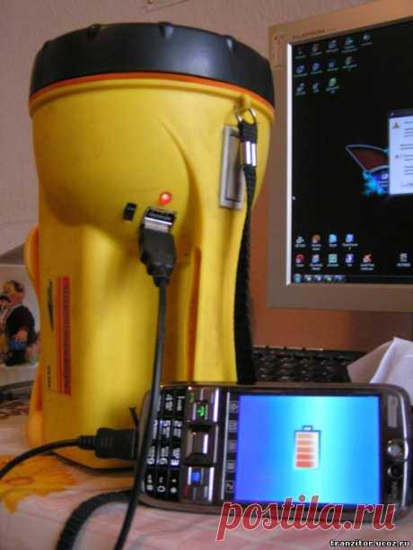 USB в фонарике - Для умелых рук