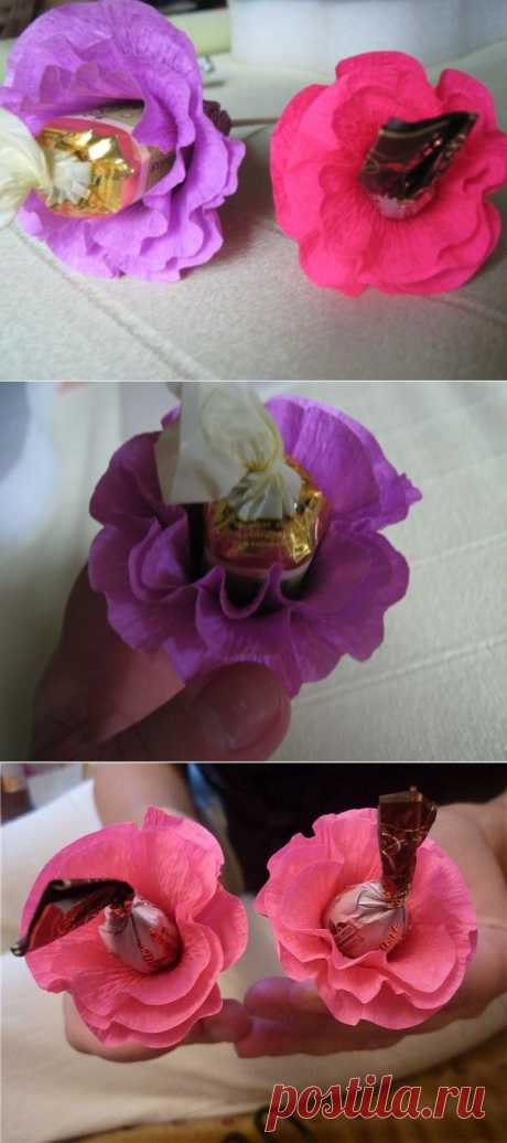 KONFEKTNO - BUKETNOE... MK ryushechny flower....
