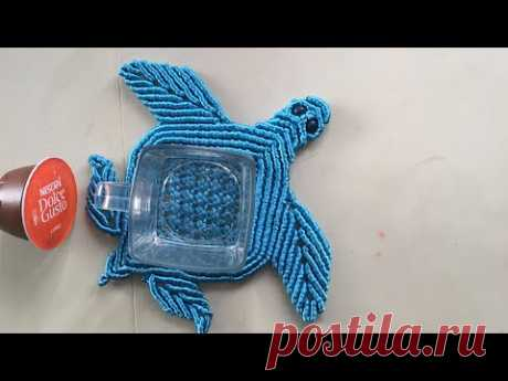 Подставка для чашки Черепаха, часть 1