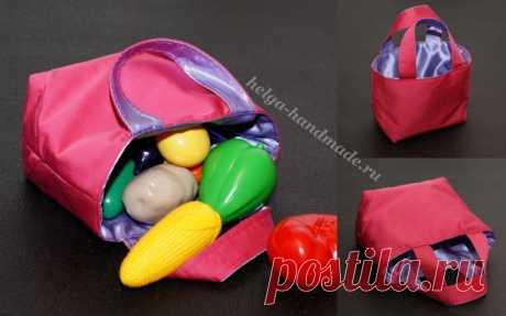 Текстильная сумка-корзинка — DIYIdeas