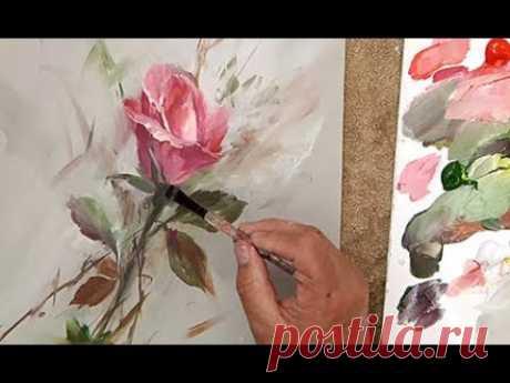 Acrylic Rose Bud