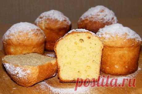 Отличный десерт на скорую руку — творожный кекс