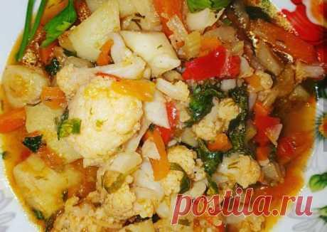 (4) Овощное рагу с цветной капустой - пошаговый рецепт с фото. Автор рецепта Гаяна!🤗 . - Cookpad