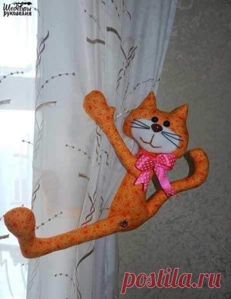 Котики как подхваты для штор