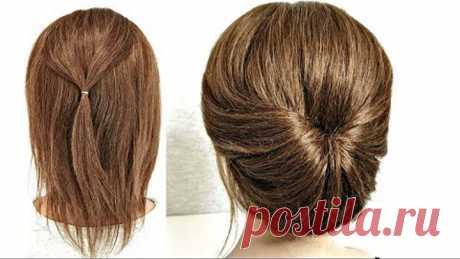 15 Пучков для Коротких волос из Резинок. Быстрые Прически.15 Bundles for Short Hair made of Elastics