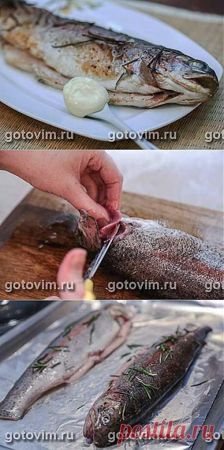 Форель с розмарином и соусом айоли. Фото-рецепт / Готовим.РУ