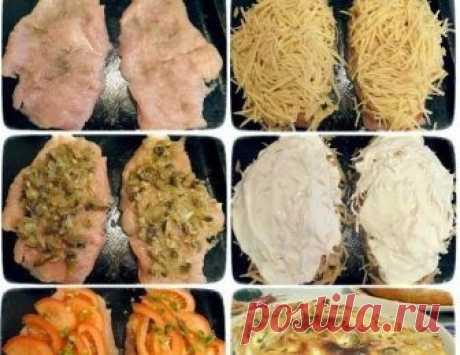 Как приготовить куриная грудка под шубой - рецепт, ингредиенты и фотографии