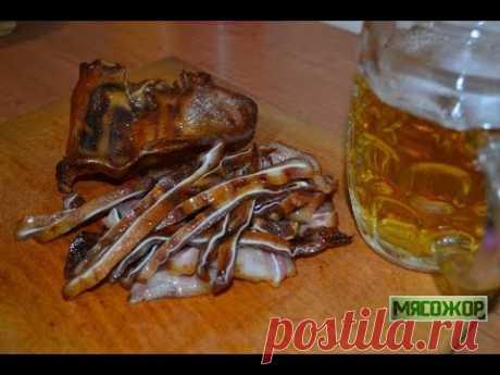 Свиные ушки. Острая закуска к пиву. МЯСОЖОР #94 - YouTube