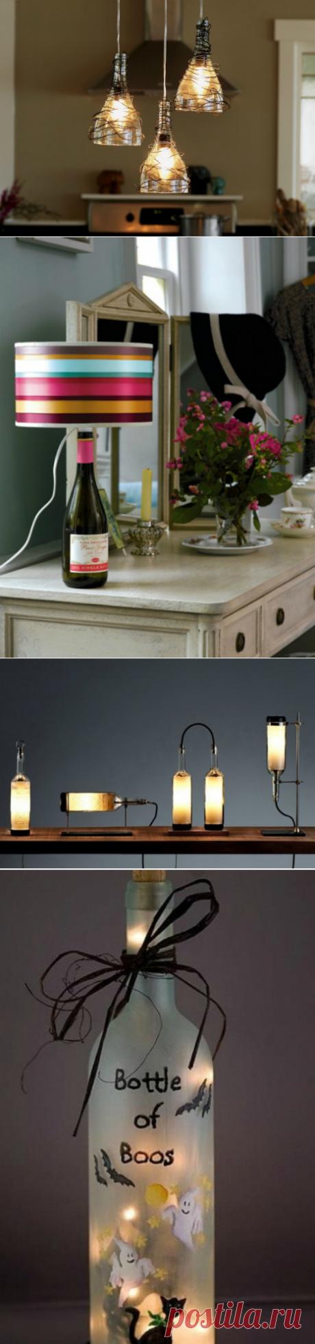 Идеи превращения винных бутылок в стильные и функциональные бытовые предметы